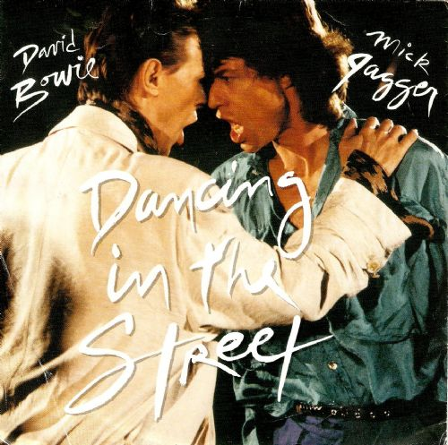 DAVID BOWIE AND MICK JAGGER Dancing In The Street Vinyl Record 7 Inch EMI America 1985